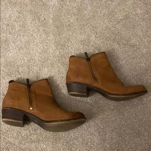 Lucky Brand Brown Leather Bootie